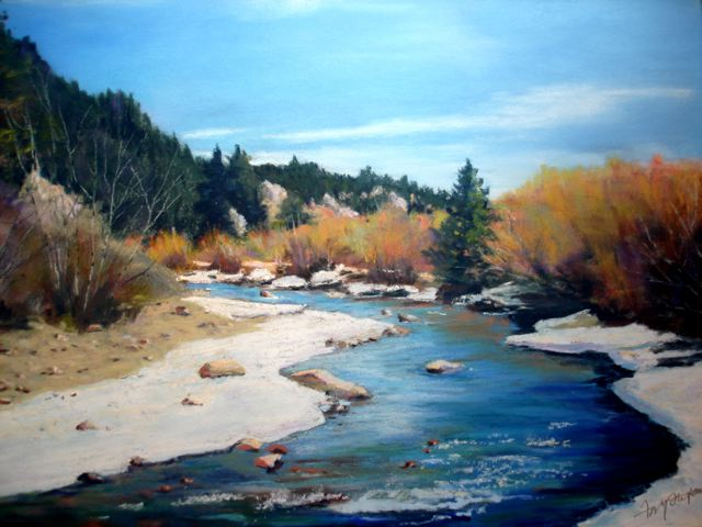 "The Oxbow"" (Boxwood), a pastel by our own Fay Stefan,  won 1st Place in Intermediate Classification, and People's Choice in the Front Range Art Exhibit."
