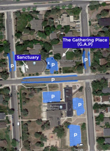 Christ's Church Parking Map
